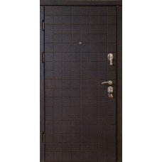Входные Двери  VIP Каскад квартира венге темный/венге светлый
